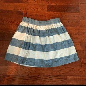 Gap striped denim skirt pockets